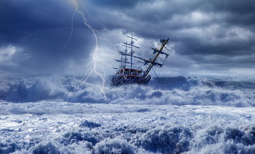 Boat in storm - innovation