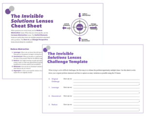 invisible solutions cheatsheet and template